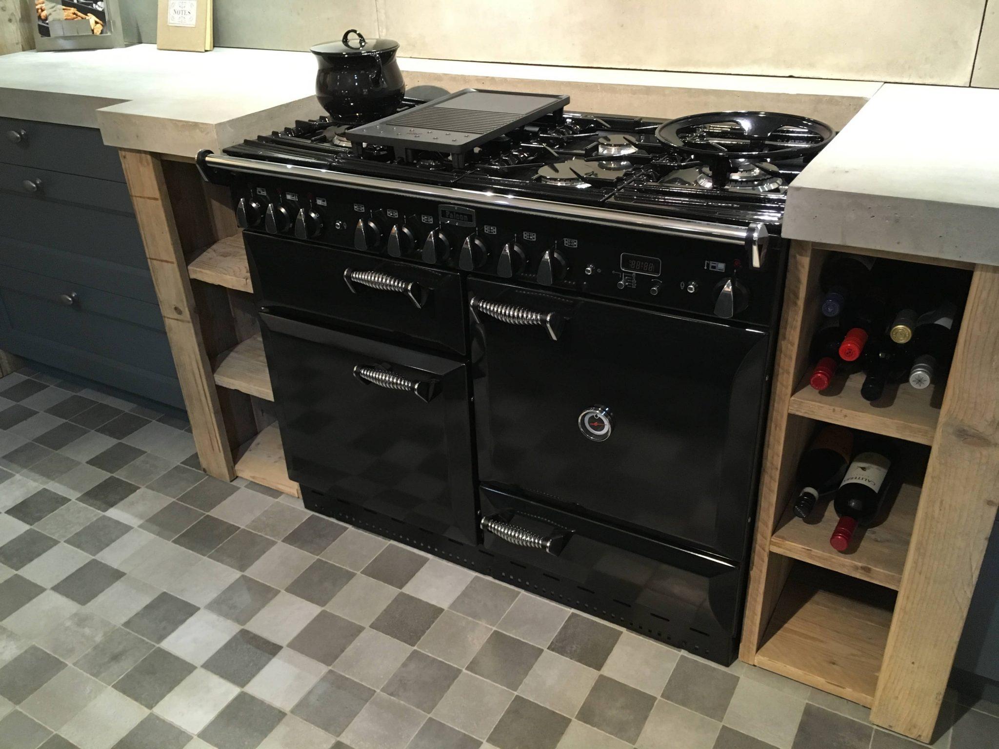 Zwart Keuken Fornuis : Falcon elan 110 zwart chroom tolkamp keukens